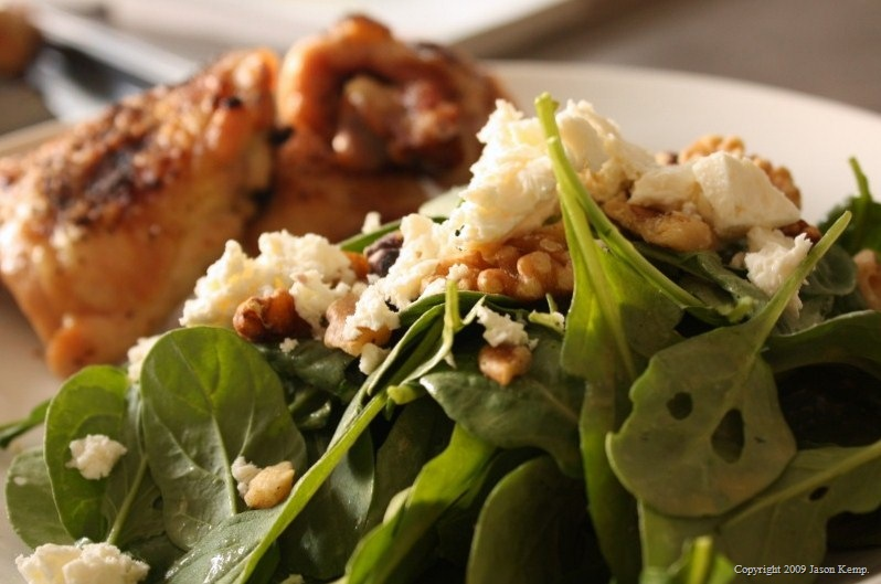 Arugula, Feta and Walnut Salad