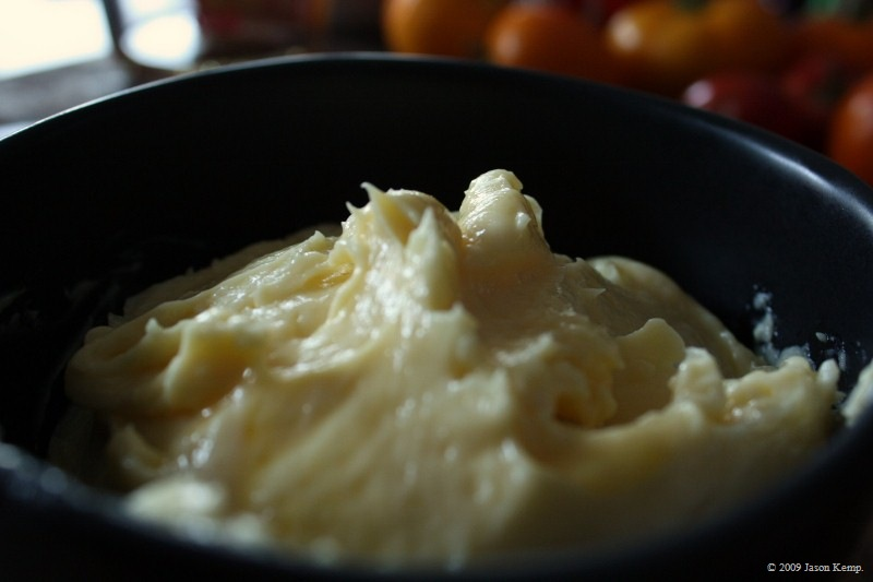 Delicious and rich, homemade mayo