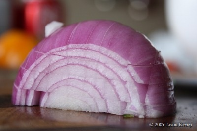 This recipe is great for practicing dicing onions.