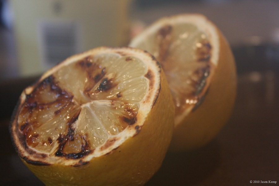 Grilled lemons can be eaten straight up, no chaser. The juice gets fantastically sweet.