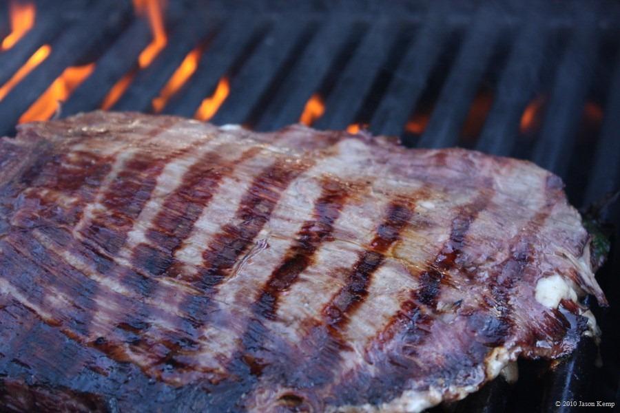 Steak likes high, direct heat.