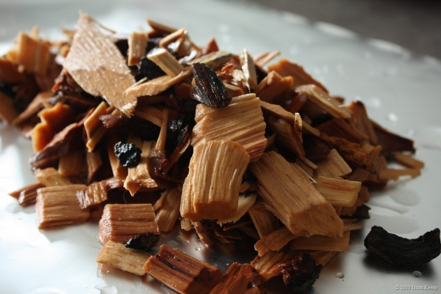 Hickory is a powerful wood chip, maybe too powerful for chicken