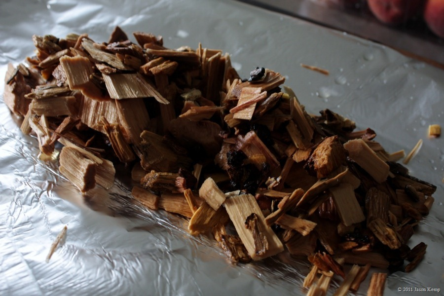 Hickory works best for pulled pork. You want a nice strong wood flavour to be hold up amongst all the other flavourings.