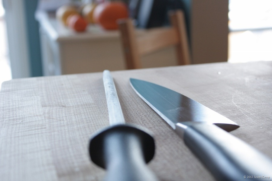 A steel will keep your knife cutting all year long.